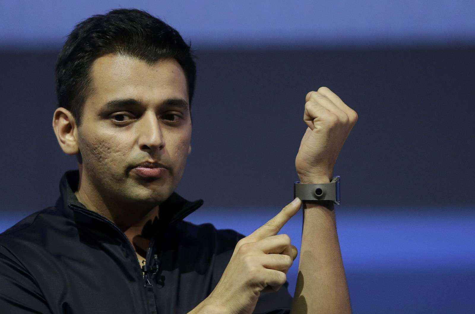 Mistry head of think tank team Samsung Research America presents Samsung Galaxy Gear smartwatch at IFA consumer electronics fair in Berlin