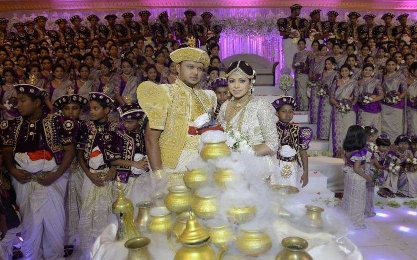 SRI LANKA-WEDDING-RECORD