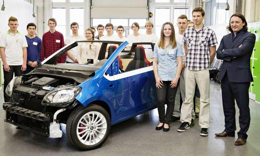 Ученики концерна Skoda создали миниатюрную версию родстера