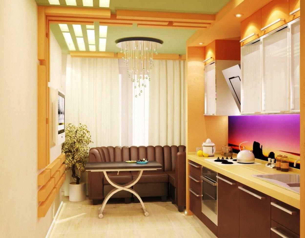 Кухня и балкон в одном дизайне.