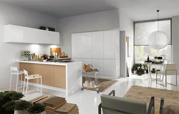 кухни в квартирах студиях фото