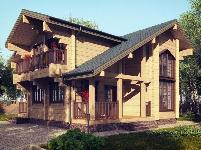 Достоинства домов из клееного бруса