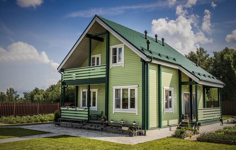 Оригинальный дизайн деревянного дома