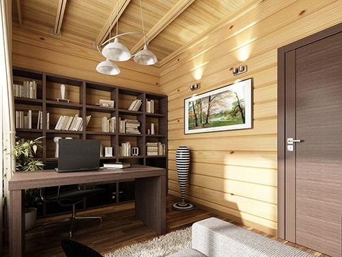 Внутренняя отделка дома из клееного бруса