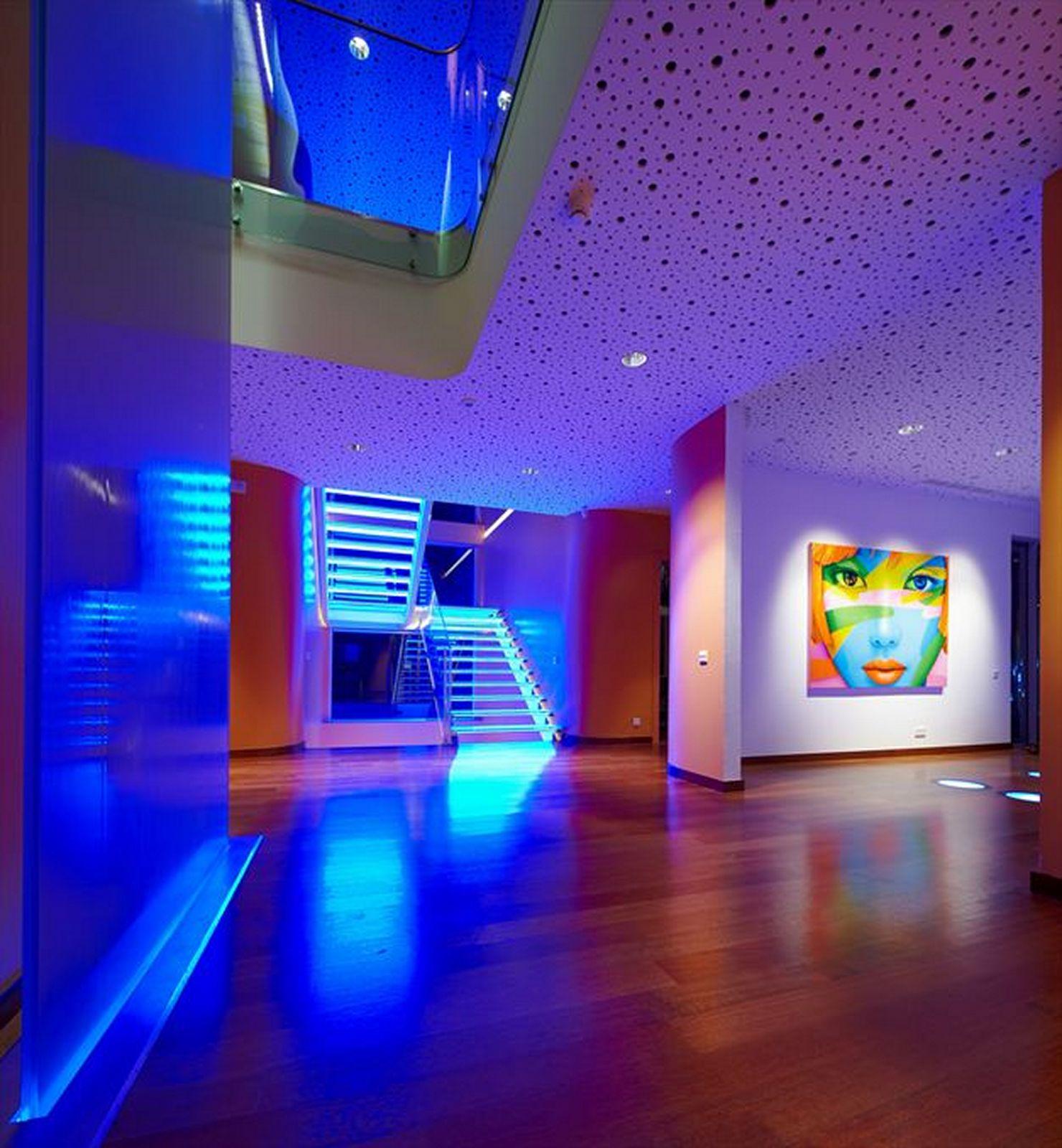 Светодиодные подсветки в интерьере фото